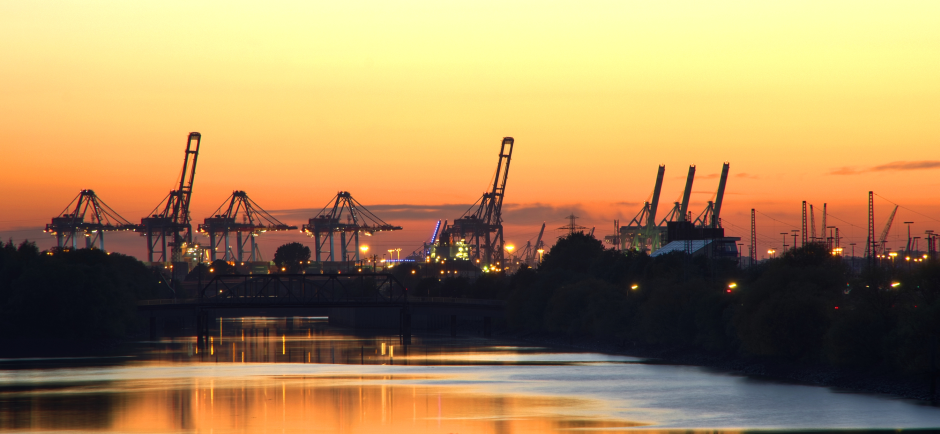 Port in the sunset